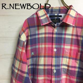 アールニューボールド(R.NEWBOLD)のR.NEWBOLD チェックシャツ XL(シャツ/ブラウス(長袖/七分))