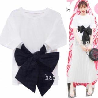 ハニーミーハニー(Honey mi Honey)の激レア💓リボンタフタTシャツ(Tシャツ/カットソー(半袖/袖なし))