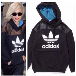 adidas - 希少 adidas × Rita Ora メッシュ切替パーカー S 黒