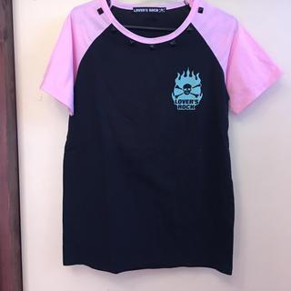 スーパーラヴァーズ(SUPER LOVERS)の【未使用】LOVER'S ROCK ラグランTシャツ ピンク(Tシャツ(半袖/袖なし))