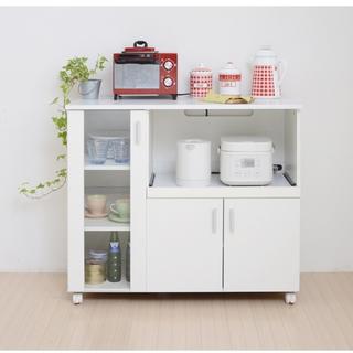 開店記念セール◆シンプルなキッチンなら!キッチンカウンター (送料無料)(キッチン収納)