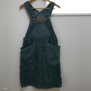 ゴーヘンプ(GO HEMP)のGOHEMP サロペット オーバーオールスカート モスグリーン カーキ(サロペット/オーバーオール)