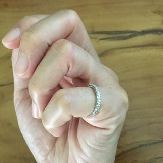 ポンテヴェキオ(PonteVecchio)のポンテヴェキオ 4号 0.35ct ハーフエタニティ ホワイトゴールド ダイヤ(リング(指輪))