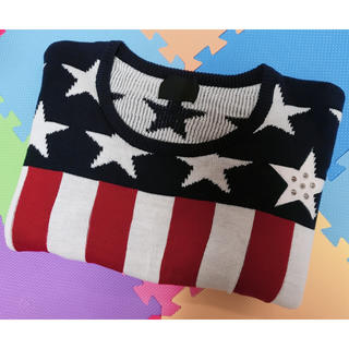 グラッドニュース(GLAD NEWS)のニット アメリカ国旗 フリーサイズ レディース(ニット/セーター)