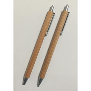 ムジルシリョウヒン(MUJI (無印良品))の無印♪ 木軸六角シャープペン・ボールペン  セット(ペン/マーカー)