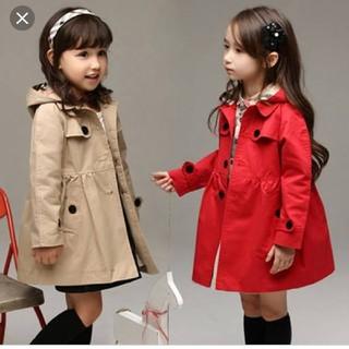 ザラキッズ(ZARA KIDS)の発送前セール!バーバリーチェックのスプリングコート♡トレンチコート(ジャケット/上着)