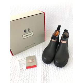 ハンター(HUNTER)のHUNTERハンター■墨黒 ショートレインブーツ UK6(レインブーツ/長靴)