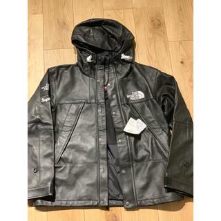 シュプリーム(Supreme)のsupreme The North Face Leather マウンパ 黒 S(レザージャケット)
