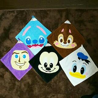 ディズニー(Disney)のDisney  手拭きタオル 5枚セット(その他)