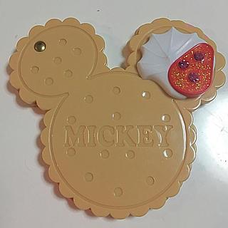 ディズニー(Disney)のミッキー クッキー型 コンパクトミラー(ミラー)