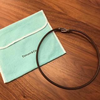 ティファニー(Tiffany & Co.)のティファニー  レザーチョーカー(ネックレス)