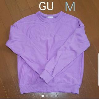 GU - GU スウェットプルオーバー(長袖)B パープル M