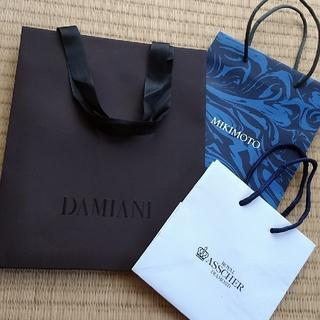 ダミアーニ(Damiani)の紙袋 3枚セット(ショップ袋)