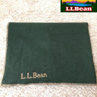 エルエルビーン(L.L.Bean)の【L.L.Bean】ブランケット177×124.5 アウトドア 厚手 グリーン(その他)