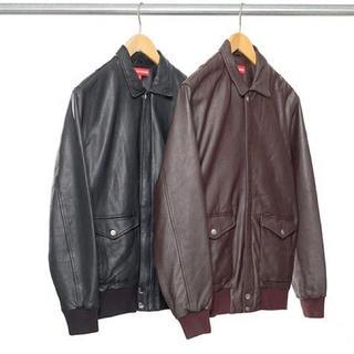 シュプリーム(Supreme)のSupreme'Leather Bomber Jacket'レザージャケット 革(レザージャケット)