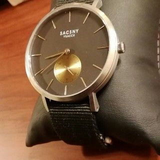 サクスニーイザック(SACSNY Y'SACCS)のサクスニーイザックス腕時計 3針 スモセコ クォーツ 取説▪箱あり(腕時計(デジタル))