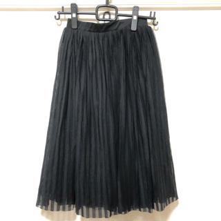 ジエンポリアム(THE EMPORIUM)のプリーツチュールスカート 黒(ひざ丈スカート)