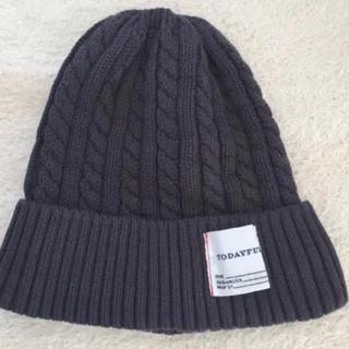 トゥデイフル(TODAYFUL)の新品 TODAYFUL ビーニー ニット帽 チャコールグレー(ニット帽/ビーニー)