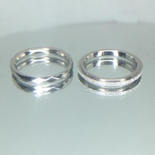 おまとめ プラズマ1つ4号+R01 フロスト1つ 4.3号(リング(指輪))
