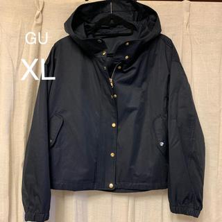 ジーユー(GU)のGU マウンテンパーカー ネイビー XL(ナイロンジャケット)
