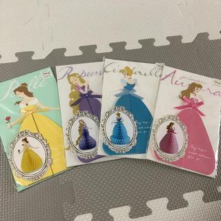 ディズニー(Disney)のディズニー プリンセス ハニカムカード 4点セット(カード/レター/ラッピング)