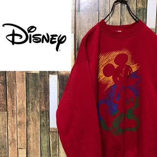 ディズニー(Disney)の【激レア】ディズニー☆USA製ミッキービッグプリントスウェット 90s(スウェット)