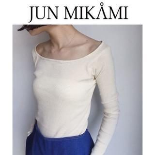 ジョンリンクス(jonnlynx)の(non様専用) junmikami リブ カットソー オフショルダー 新品(Tシャツ(長袖/七分))