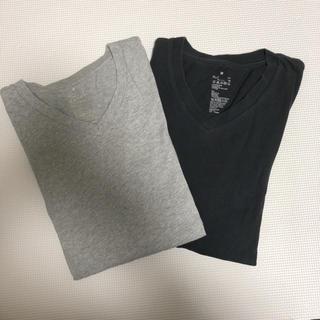 ムジルシリョウヒン(MUJI (無印良品))の無印 MUJIRUSHI Vネック ロンT 長袖 2枚セット Mサイズ(Tシャツ(長袖/七分))
