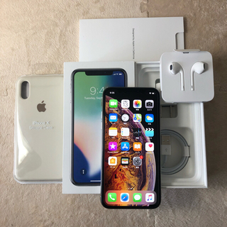 アイフォーン(iPhone)のSIMフリー iPhoneX 64GB シルバー おまけ有(スマートフォン本体)