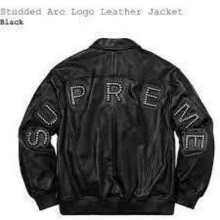 シュプリーム(Supreme)のsupreme Studded Arc Logo size L(レザージャケット)
