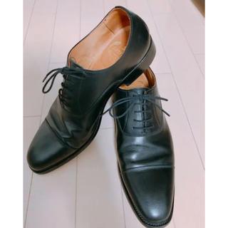 クロケットアンドジョーンズ(Crockett&Jones)のスコッチグレイン 革靴 ストレートチップ(ドレス/ビジネス)