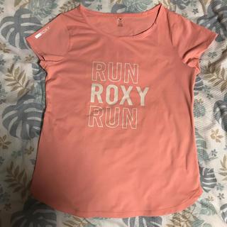 ロキシー(Roxy)のROXY 速乾Tシャツ ピンクM(ウェア)