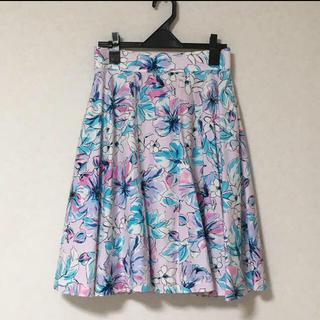 8322c34d55e1f スナイデル(snidel)のSNIDEL フラワースカート(ひざ丈スカート)
