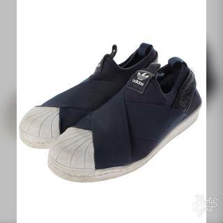 アディダス(adidas)のUSED adidas  ワンポイントスリッポン 状態B(スリッポン/モカシン)