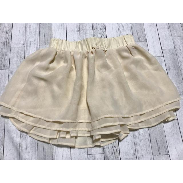 GU(ジーユー)のスカートキュロット 130 キッズ/ベビー/マタニティのキッズ服 女の子用(90cm~)(スカート)の商品写真