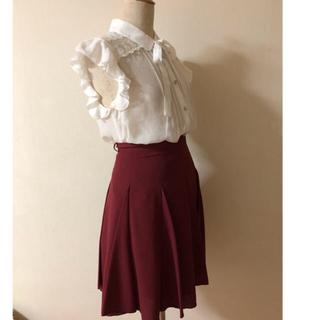 ネットディマミーナ(NETTO di MAMMINA)のボルドー 美ライン フレアスカート(ひざ丈スカート)