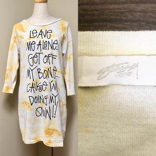 ステューシー(STUSSY)のstussy women * ショーンフォント Tシャツ ワンピース(ミニワンピース)