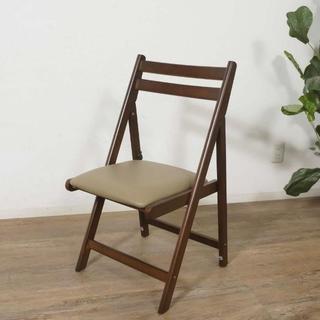 アウトレット 折りたたみチェアー 椅子 いす ダークブラウン(折り畳みイス)