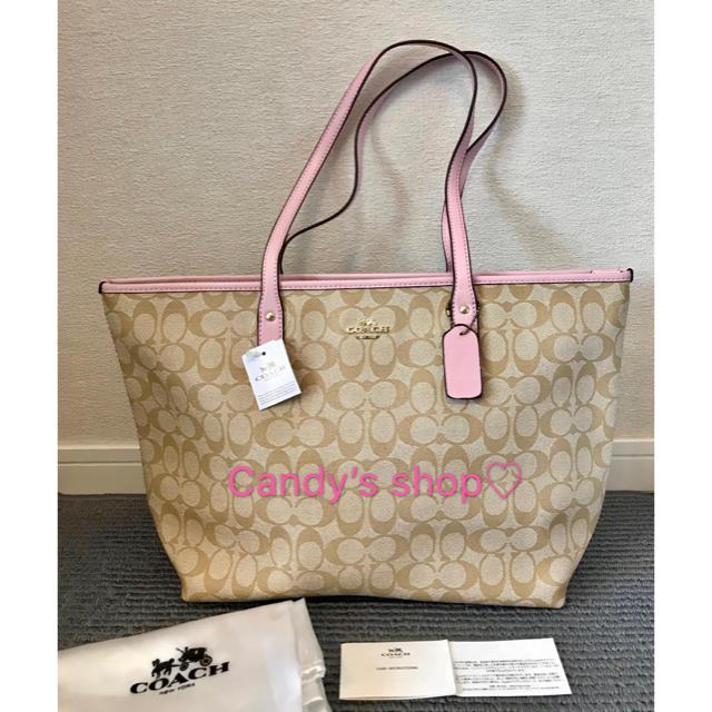 322b20113979 COACH(コーチ)のコーチ 新品 さくらピンク 可愛い トートバッグ レディースのバッグ(