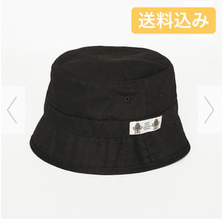 ジーユー(GU)のGU STUDIO SEVEN コラボ バケットハット ブラック(ハット)