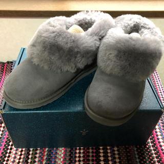 エミュー(EMU)のemu ムートンブーツ チャコール サイズ7(ブーツ)