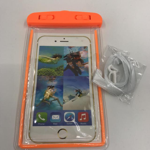 iphone6plus ケース 手帳 シャネル | 携帯用防水ケース オレンジ色 新品未使用 の通販 by 天立商店|ラクマ