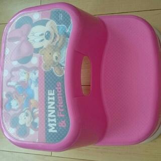 ディズニー(Disney)の送料無料 ミニーマウス ステップ 台 中古(その他)