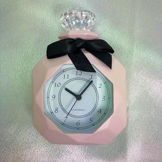 フランフラン(Francfranc)の【新品】パヒューム型 置時計 (ピンク)(置時計)