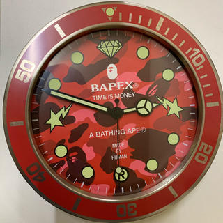 アベイシングエイプ(A BATHING APE)のBAPE BAPEX壁掛け時計(掛時計/柱時計)