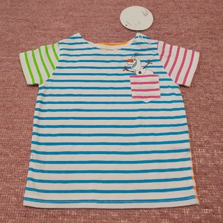 ディズニー(Disney)の新品 ストンプスタンプ オラフ アナと雪の女王 半袖Tシャツ 80 ボーダー(Tシャツ)