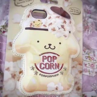 サンリオ(サンリオ)のポムポムプリン iPhone ケース スマホ 携帯  カバー ポップコーン(iPhoneケース)