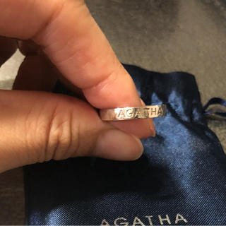 アガタ(AGATHA)のアガタ リング ロゴ彫 #15(リング(指輪))
