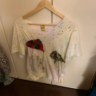 ノゾミイシグロ(NOZOMI ISHIGURO)のノゾミイシグロ  ダメージTシャツ(Tシャツ/カットソー(半袖/袖なし))
