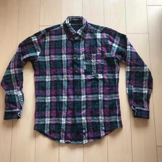 オーバーザストライプス(OVER THE STRIPES)のOVER THE STRIPES シワ加工 ネルシャツ チェックシャツ L~XL(シャツ)